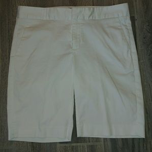 Banana Republic white Bermuda shorts